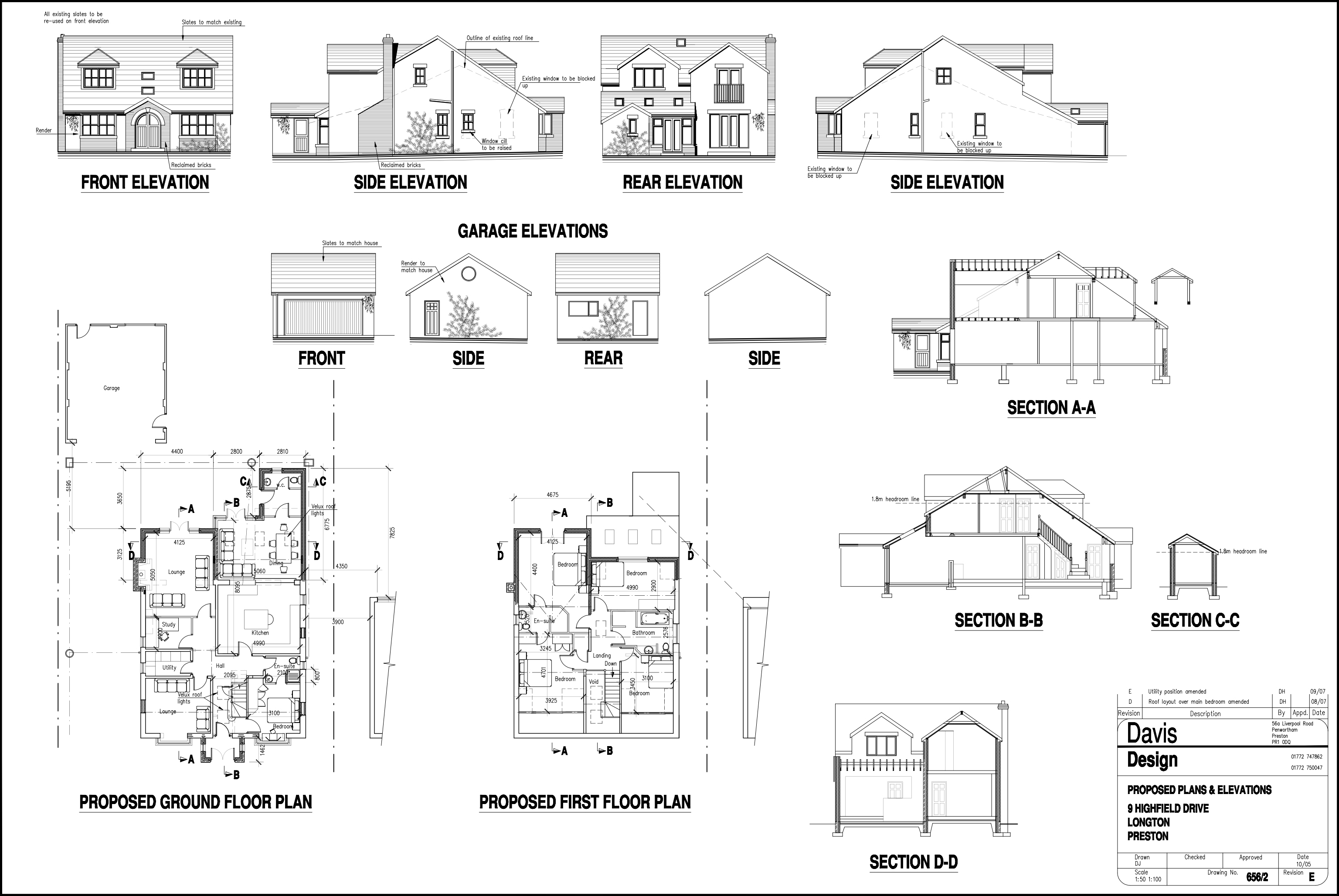 Conversion of 2 bedroom detached bungalow davis design for Bungalow plans and elevations